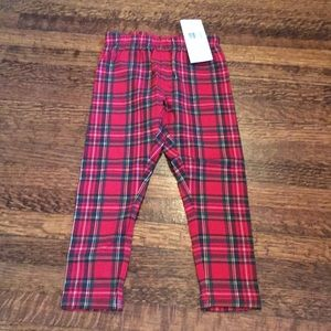 Ralph Lauren red tartan leggings